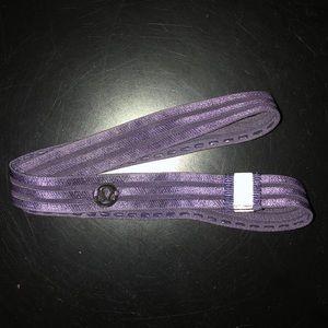 LULU LEMON purple headband